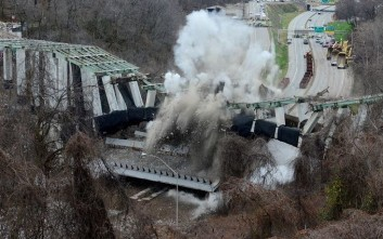 Πάνω από 600 κιλά εκρηκτικών ανατινάζουν μια γέφυρα