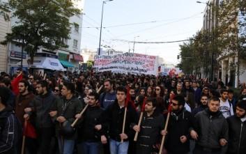 Ολοκληρώθηκε η πορεία μαθητών και φοιτητών στη μνήμη του Γρηγορόπουλου στην Αθήνα