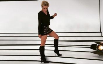 Η Ντορέττα Παπαδημητρίου με τις μαύρες μπότες MIGATO