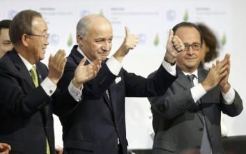 Ιστορική συμφωνία στο Παρίσι για το κλίμα