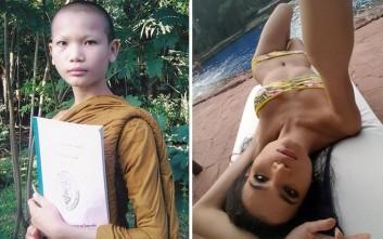 Από Βουδιστής μοναχός... τρανσέξουαλ μοντέλο γυναικείων εσωρούχων