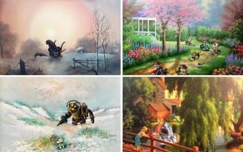 Πώς θα ήταν οι παραδοσιακοί πίνακες με πινελιές της pop κουλτούρας