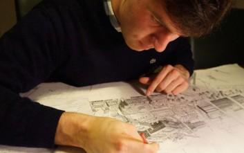Ο άνθρωπος που ζωγραφίζει πόλεις από μνήμης