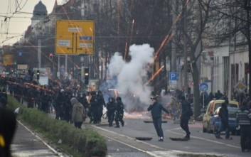 Πάνω από πενήντα αστυνομικοί τραυματίες από επεισόδια στη Λειψία