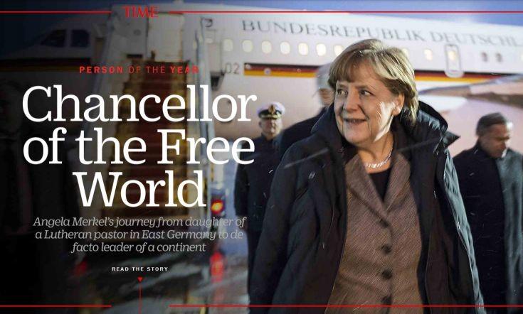 Η Άγκελα Μέρκελ το πρόσωπο της χρονιάς για το Time
