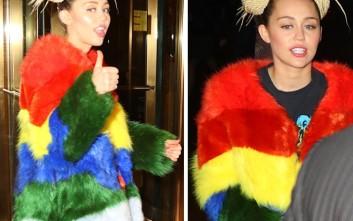 Η Miley Cyrus είναι το κορίτσι του… ουράνιου τόξου