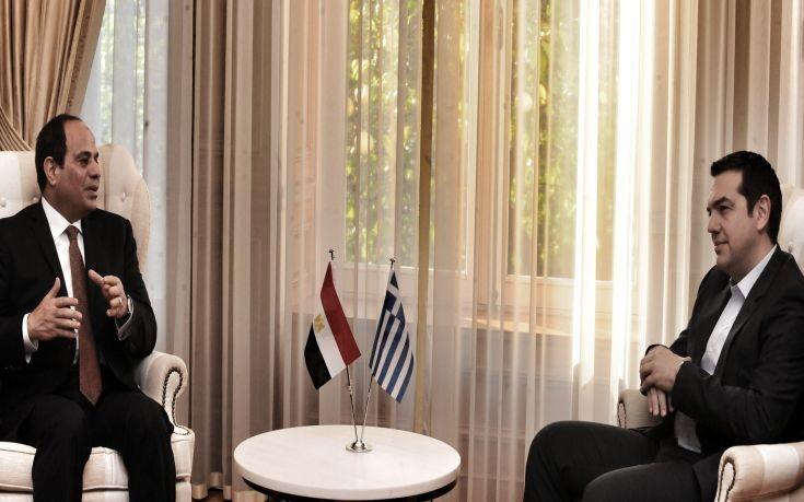 Αλ Σίσι: Έχω μεγάλη εκτίμηση στο πρόσωπο του Αλέξη Τσίπρα