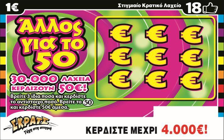 Κέρδη 4,4 εκατ. ευρώ σε μία εβδομάδα από το ΣΚΡΑΤΣ