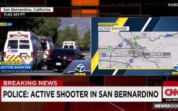Πανικός από πυροβολισμούς στο Σαν Μπερναρντίνο στην Καλιφόρνια
