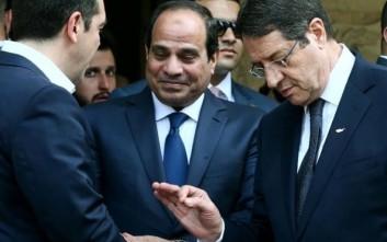 Αστακός η Κύπρος για την επίσκεψη του προέδρου της Αιγύπτου και του Τσίπρα
