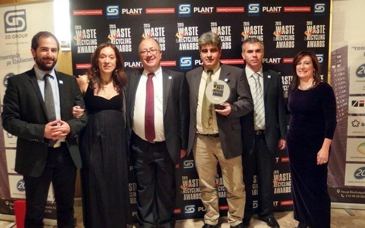 Διάκριση της Σαντορίνης στα Waste & Recycling Awards 2015