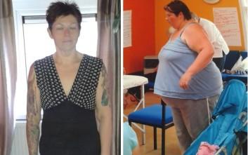 Η γυναίκα που έχασε σχεδόν το μισό της βάρος