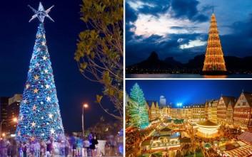 Εντυπωσιακά χριστουγεννιάτικα δέντρα από όλο τον κόσμο
