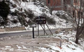 Άρχισε να πέφτει χιόνι και στα ορεινά του Πηλίου