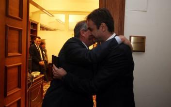 Ο Μητσοτάκης συναντάται με τον Κώστα Καραμανλή