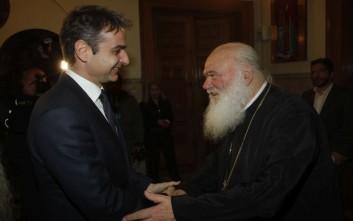 Τετ α τετ Κυριάκου Μητσοτάκη – αρχιεπίσκοπου Ιερώνυμου στο Μαξίμου