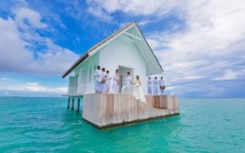 Ένας ονειρικός γάμος στις Μαλδίβες