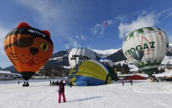 Πανδαισία αερόστατων στον ελβετικό ουρανό