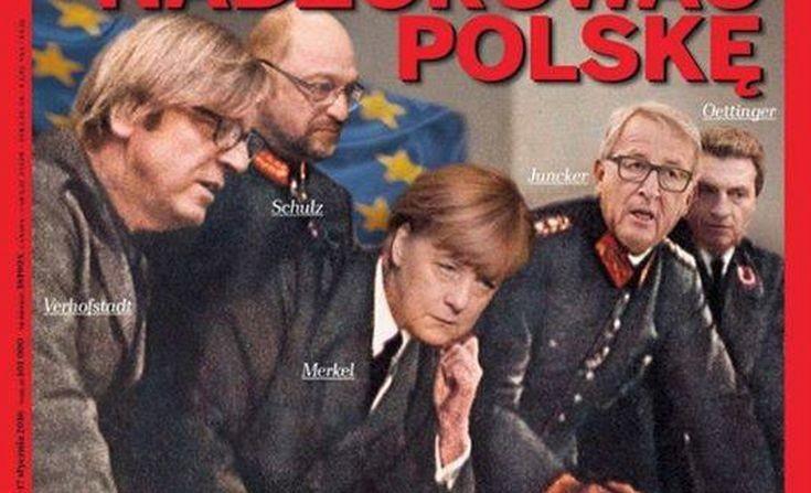 Μέρκελ και Γιούνκερ ως Ναζί σε εξώφυλλο περιοδικού