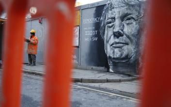 Ο Ντόναλντ Τραμπ έγινε γκράφιτι σε τοίχο στο Λονδίνο