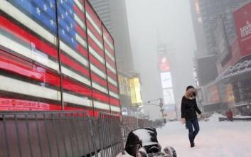 Χειρότερη από ότι αναμενόταν η θύελλα «Τζόνας» στις ΗΠΑ