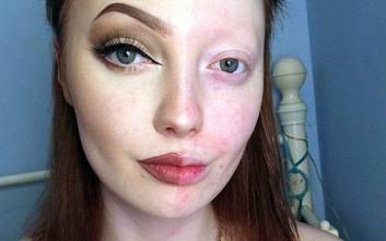 Η παντοδυναμία του μακιγιάζ σε μία selfie