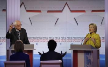 Ντιμπέιτ με «πυρά» Σάντερς-Κλίντον για υγεία και Wall Street