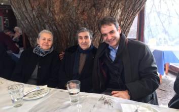 Με τις περίφημες γιαγιάδες της Λέσβου ο Κυριάκος Μητσοτάκης