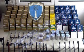 Στον εισαγγελέα Αλεξανδρούπολης οι τρεις συλληφθέντες με τα όπλα και τις σφαίρες