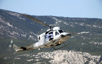 Μεταφορά ασθενούς με ελικόπτερο του πολεμικού Ναυτικού
