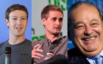Σε ποια ηλικία έγιναν εκατομμυριούχοι οι σημερινοί δισεκατομμυριούχοι