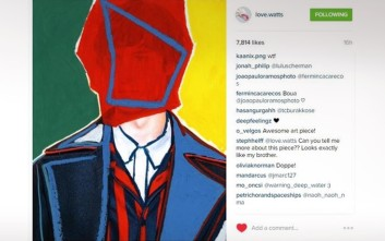 Η τέχνη συναντά την Hilfiger Edition Fall 2016 Men's Collection στο Instagram