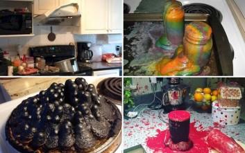 Εφιαλτικές στιγμές στην κουζίνα