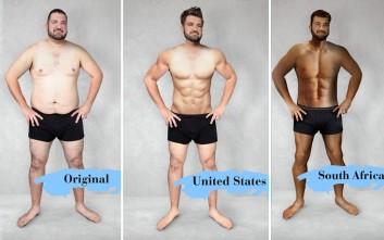 Πώς μοιάζει το «ιδανικό» ανδρικό σώμα σε 18 χώρες