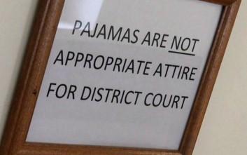 Απαγορεύονται οι… πιτζάμες σε δικαστήριο των ΗΠΑ