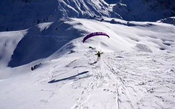 Speedriding, κάνοντας σκι με αλεξίπτωτο