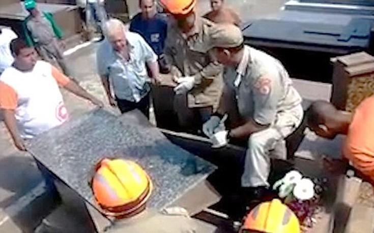 Ζωντανός άνδρας βρέθηκε μέσα σε τάφο στη Βραζιλία