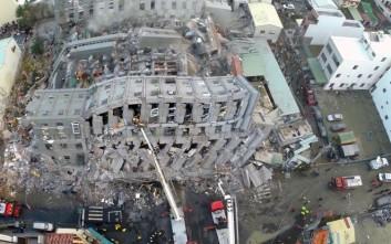 Εγκλωβισμένοι στα ερείπια και οκτώ νεκροί στην Ταϊβάν