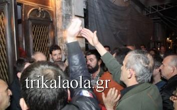Ένταση με αγρότες σε εκδήλωση του ΣΥΡΙΖΑ στα Τρίκαλα