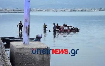 Βουτιά θανάτου για οδηγό στη λιμνοθάλασσα στο Μεσολόγγι