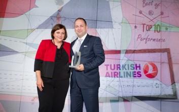 Διακρίσεις για την Turkish Airlines στα βραβεία του Διεθνούς Αερολιμένα Αθηνών