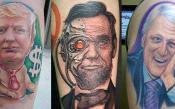 Αμερικάνοι πολιτικοί γίνονται τατουάζ