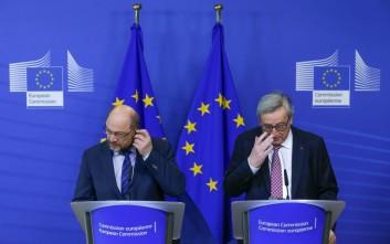 Αισιοδοξία Γιούνκερ και Σουλτς για συμφωνία μεταξύ Ε.Ε. και Τουρκίας