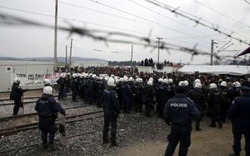 Ένταση και πετροπόλεμος από πρόσφυγες στην Ειδομένη