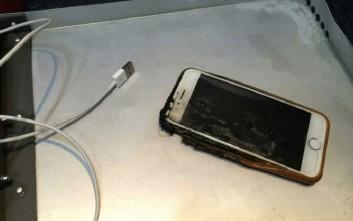 iPhone άρπαξε φωτιά την ώρα της πτήσης