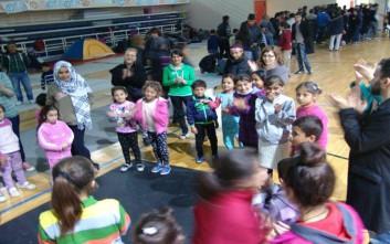 Ώρα για παιχνίδι για τα προσφυγόπουλα στην Κοζάνη