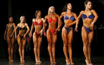 Διαγωνισμός bodybuilding στη Σιβηρία