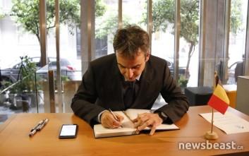 Στη βελγική πρεσβεία πήγε ο Μητσοτάκης