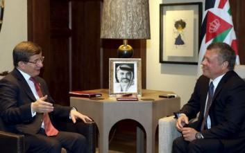 Νταβούτογλου: Κοινός αγώνας Τουρκίας και Ιορδανίας κατά της τρομοκρατίας
