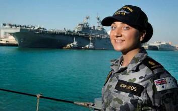 Η ελληνοαστραλέζα που υπηρετεί στο Βασιλικό Ναυτικό της Αυστραλίας